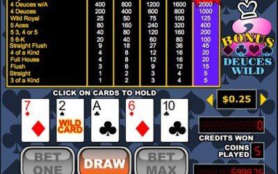 Bonus Deuces Wild Video Poker